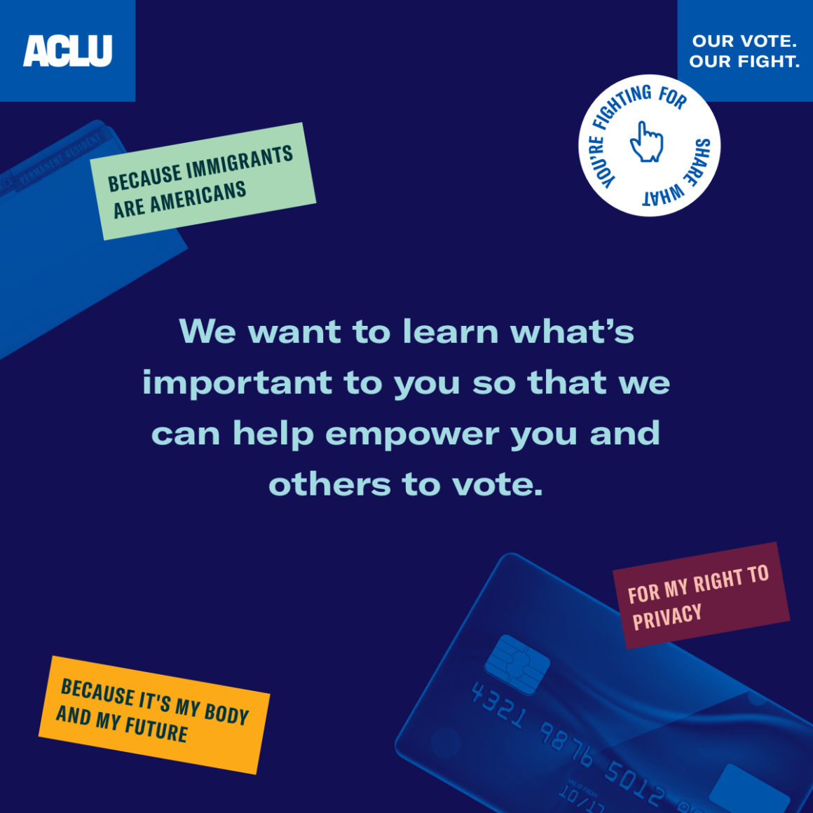 ACLU Our Vote Our Fight