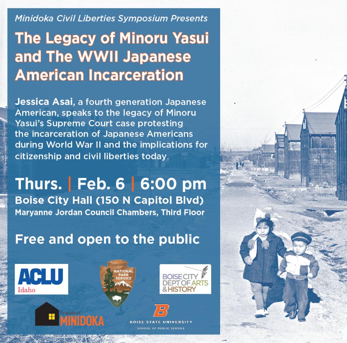 Minidoka civil liberties symposium poster