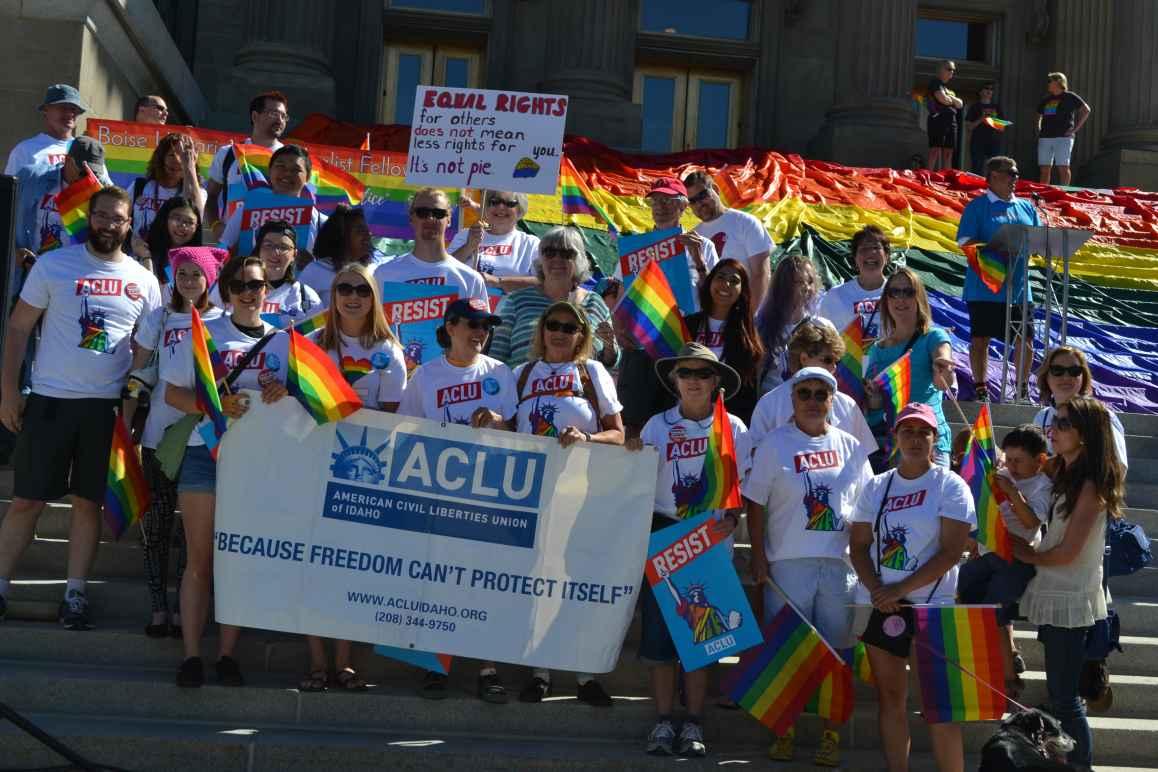 ACLU Idaho Boise Pride Rally